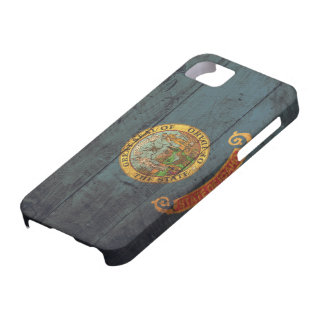 Old Wooden Idaho Flag; iPhone 5 Cover