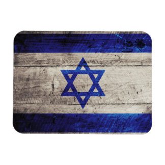 Old Wooden Israel Flag Rectangular Photo Magnet