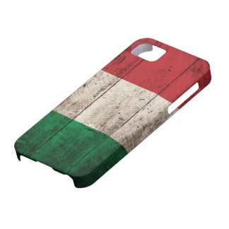 Old Wooden Italy Flag Case For The iPhone 5