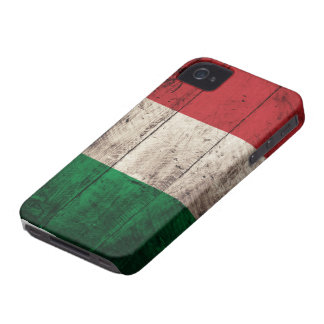 Old Wooden Italy Flag iPhone 4 Case-Mate Cases