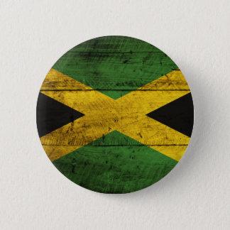 Old Wooden Jamaica Flag 6 Cm Round Badge