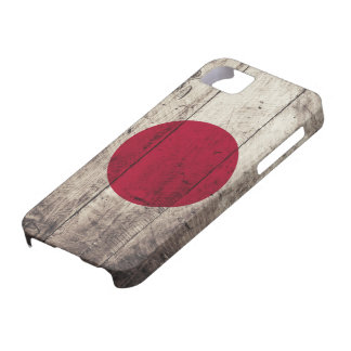 Old Wooden Japan Flag Barely There iPhone 5 Case