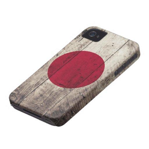Old Wooden Japan Flag Blackberry Cases