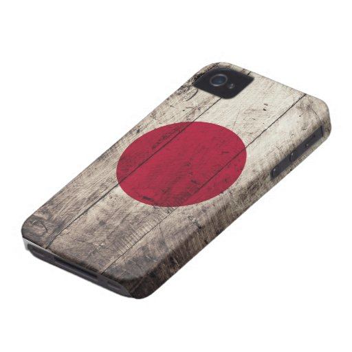 Old Wooden Japan Flag Case-Mate iPhone 4 Cases