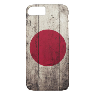 Old Wooden Japan Flag iPhone 7 Case