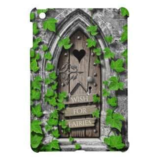 Old Wooden Magical Fantasy Fairy Wishing Door iPad Mini Covers
