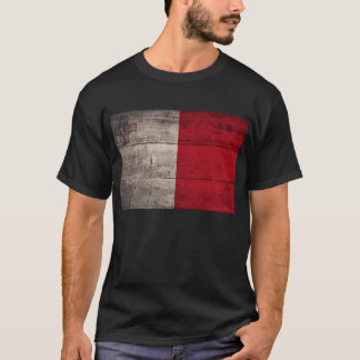 Old Wooden Malta Flag; T-Shirt