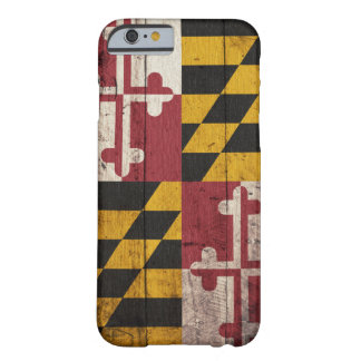 Old Wooden Maryland Flag Barely There iPhone 6 Case