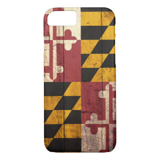 Old Wooden Maryland Flag iPhone 7 case