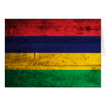 Old Wooden Mauritius Flag Cards