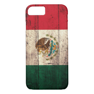 Old Wooden Mexico Flag iPhone 7 Case