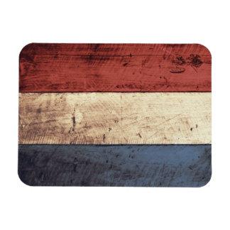 Old Wooden Netherlands Flag Rectangular Photo Magnet