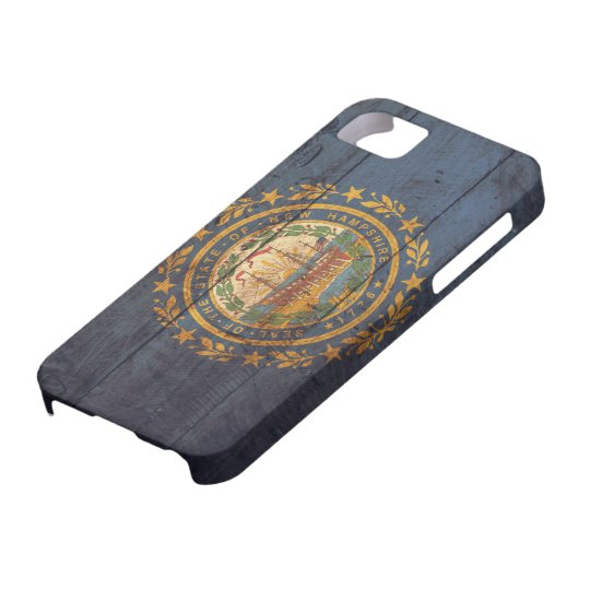 Old Wooden New Hampshire Flag; Case For The iPhone 5