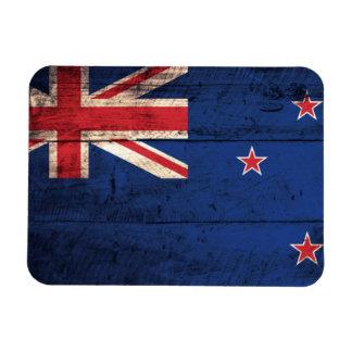 Old Wooden New Zealand Flag Magnet