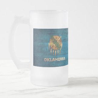 Old Wooden Oklahoma Flag; Mug