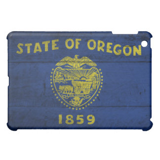 Old Wooden Oregon Flag; iPad Mini Case