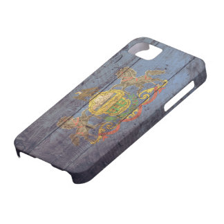 Old Wooden Pennsylvania Flag; Case For The iPhone 5