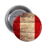 Old Wooden Peru Flag Pin