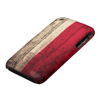Old Wooden Poland Flag iPhone 3 Cases