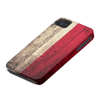 Old Wooden Poland Flag iPhone 4 Case-Mate Case