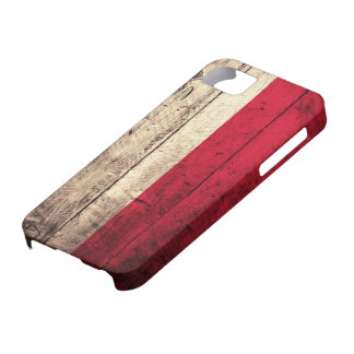 Old Wooden Poland Flag iPhone 5 Case