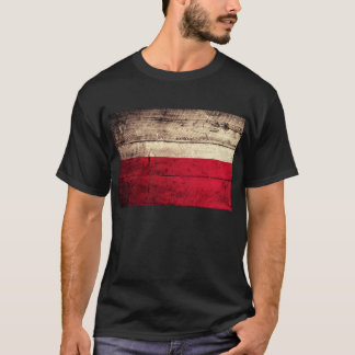 Old Wooden Poland Flag; T-Shirt
