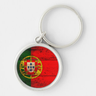 Old Wooden Portugal Flag Key Ring