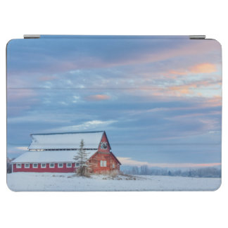 Old Wooden Red Barn In The Lower Valley iPad Air Cover