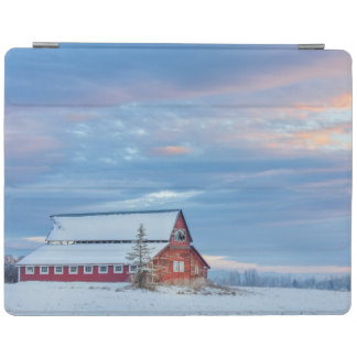 Old Wooden Red Barn In The Lower Valley iPad Cover