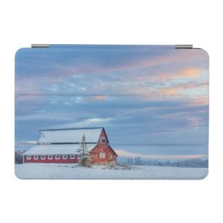 Old Wooden Red Barn In The Lower Valley iPad Mini Cover
