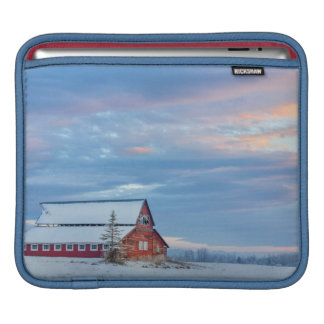 Old Wooden Red Barn In The Lower Valley iPad Sleeve