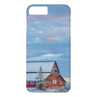 Old Wooden Red Barn In The Lower Valley iPhone 8 Plus/7 Plus Case
