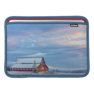 Old Wooden Red Barn In The Lower Valley MacBook Sleeve