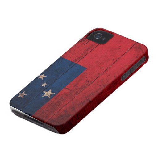 Old Wooden Samoa Flag iPhone 4 Cases