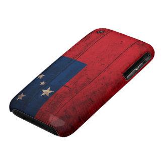 Old Wooden Samoa Flag Case-Mate iPhone 3 Case