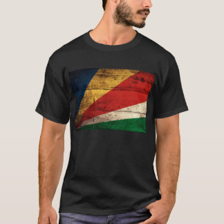 Old Wooden Seychelles Flag T-Shirt
