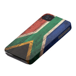 Old Wooden South Africa Flag iPhone 4 Case-Mate Case