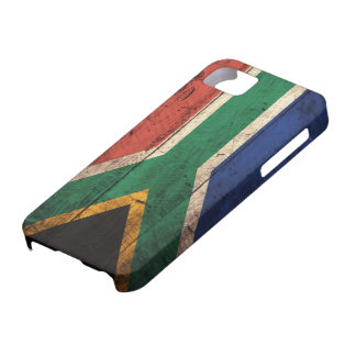 Old Wooden South Africa Flag iPhone 5 Case