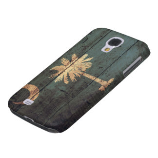 Old Wooden South Carolina Flag; Galaxy S4 Case