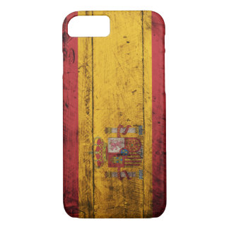 Old Wooden Spain Flag iPhone 7 Case