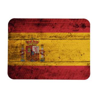 Old Wooden Spain Flag Flexible Magnet