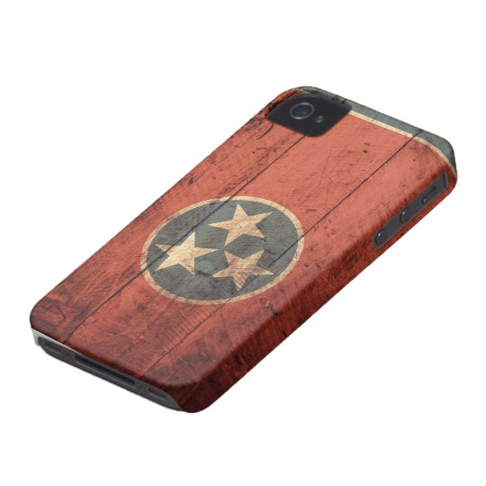 Old Wooden Tennessee Flag iPhone 4 Covers