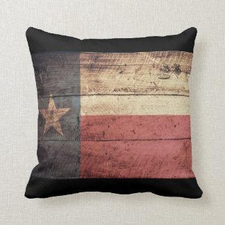 Old Wooden Texas Flag; Cushion