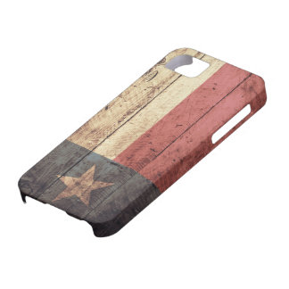 Old Wooden Texas Flag; iPhone 5 Case