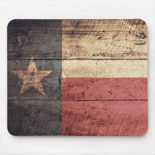 Old Wooden Texas Flag; Mouse Mat