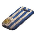 Old Wooden Uruguay Flag Galaxy SIII Cases