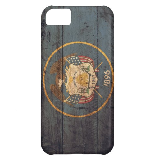 Old Wooden Utah Flag; Cover For iPhone 5C