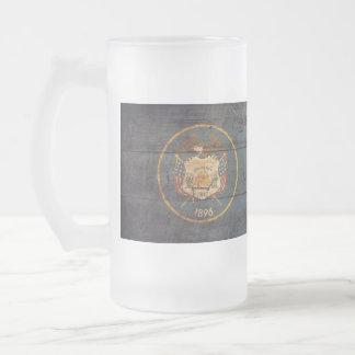 Old Wooden Utah Flag; Mugs