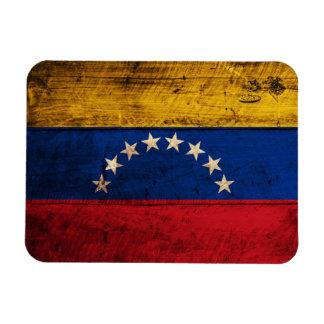 Old Wooden Venezuela Flag Magnet