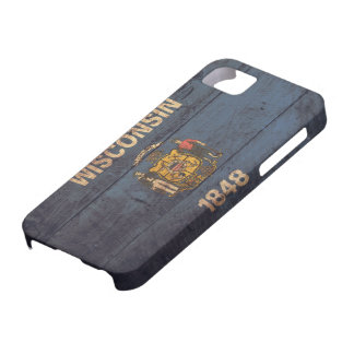 Old Wooden Wisconsin Flag iPhone 5 Case